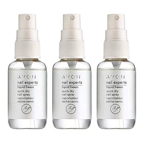 Avon Nail Experts Liquid Freeze Nagelspray zum schnellen Trocknen von Nagellack, 3 Stück