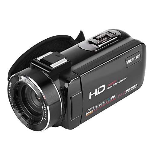 "V BESTLIFE HDV-Z20 Videocámara Full HD Cámara DV 1080P 3.0""IPS Pantalla WiFi Zoom Digital 16X Tarjeta SD Soporte 64G Sensor de Imagen Sony de Alta Sensibilidad(EU.pulg)"