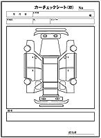 カーピカル 複写式 カーチェックシート(50台分) A5サイズ 1冊 [傷確認]