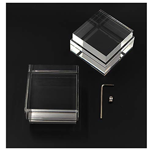 Glas Acryl Set (2Stück) 60mm x 60mm für 6W Zubehör LED Design Dekoration | SpiceLED