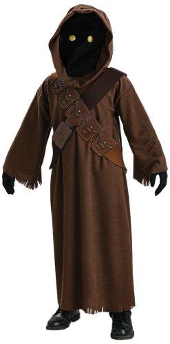Original Lizenz Star Wars Jawa Kostüm Jawakostüm für Kinder Tatooine glühende Augen leuchtend Gr. 98/104, 116/122, 134/140, Größe:98/104