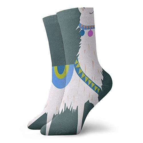 winterwang Calcetines de dibujos animados Lama Alapaca Hot Mens Sports Stocking Decoración Calcetín Liquidación para niños