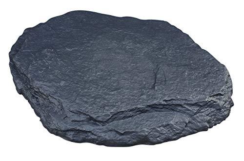 Nano-Garten Piedras de jardín duraderas, Resistentes a la Rotura, Piedras únicas con Aspecto de Pizarra, Antracita y Gris (20 Piedras Aspecto de Pizarra, Antracita)
