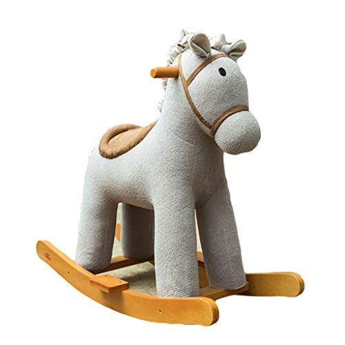 Why Choose Rocking horse LITING Trojan Baby Child Rocking Chair Baby Toys Solid Wood Bluetooth Music...