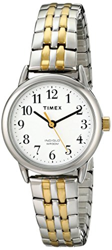 Timex Women's T2P298 Easy Reader 25mm Dress Two-Tone Stainless Steel Expansion Band Watch