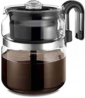 Medelco One All 8-Cup Capacity Stovetop Glass Percolator