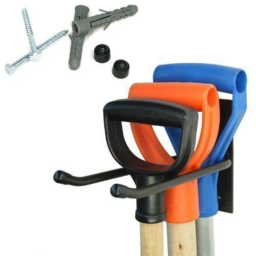 4U® Gerätehalter Halterung Gartengerätehalter Besenhalter Garten Spatenhalter Wand