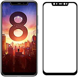 5D Tempered Glass for Xiaomi Mi 8 Full Screen Protector - Black Frame