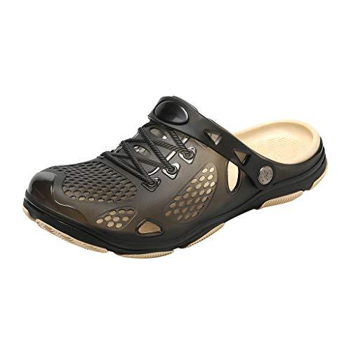 Sunenjoy Chaussures Sabots Plastique Plage Homme de Jardin Été Pantoufles Anti-Glissement Sandales Mules Respirant Pantoufles Piscine Chaussons avec Trous de Drainage pour Tous Sports