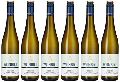 Weinbiet Manufaktur eG Gimmeldinger Meerspinne Kerner  Halbtrocken Weißwein (6 x 0.75 l)