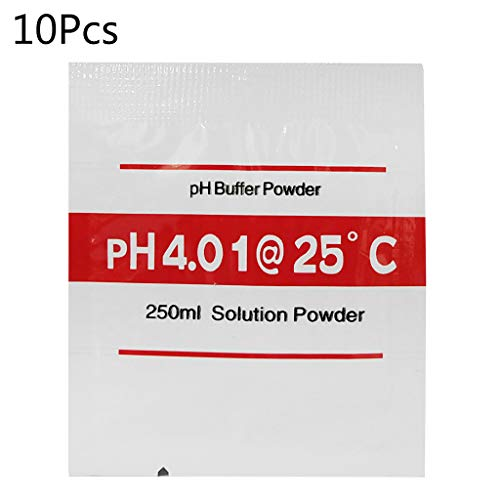 planuuik 10 Stück PH-Korrekturpulver für PH-Messgerät Pen of Tester Accuracy Buffer Powder