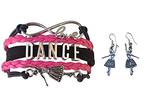 Infinity Collection Dance Jewelry Set-Dance Bracelet & Dance Earrings, for Dance Recitals, Dancers and Dance Teams