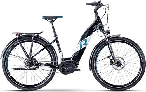 RAYMON UrbanRay E 7.0 Wave Unisex Pedelec E-Bike City Fahrrad schwarz/weiß 2021: Größe: 52 cm/L