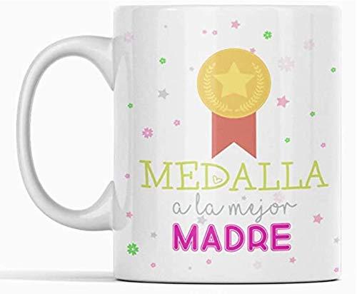 Clapper Taza Dia de la Madre. Regalo Dia de Madre. Taza Medalla para mamá