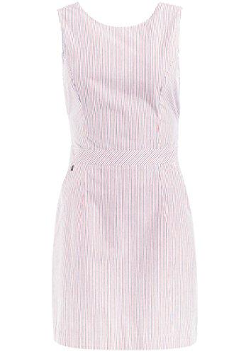 khujo dames jurk VALMIERA van puur katoen mini jurk met uitsparing op de rug zomerjurk met strepen