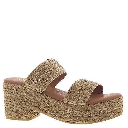 Coconuts by Matisse Women's Platform Slide Sandal, Cognac, 8