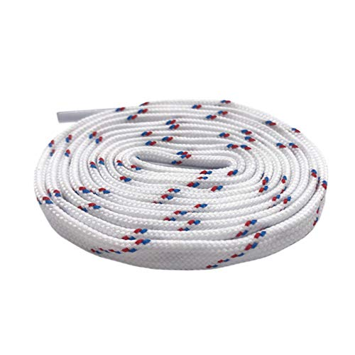 Tactfulw 7mm Bianco/Rosso/Blu Piani Tublar Lacci Athletic Stivali Lacci per Gli Uomini/Donne Sport Sneakers, 60cm