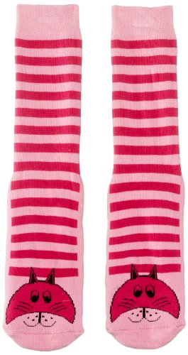 Country Kids Baby (Unisex Socken Slipper Sock Cat, Gr. 128 (Herstellergröße:6-8 Years), Rosa (Pink)