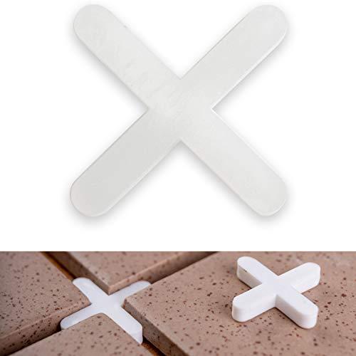 Fliesenkreuze, 2 mm stark, 1000x, sorgen für gleichmäßigen Abstand, können verfugt werden, Fugen Kreuz, Fliesenabstandshalter, Fliesen Abstandshalter, Fliesen Kreuz, Kunststoffkreuze, Distanz Halter
