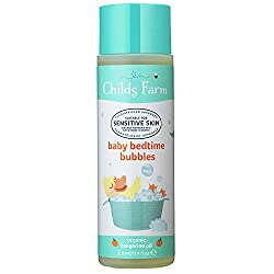 Award-winning Childs Farm baby bedtime bubbles is mildly fragranced with organic tangerine Suitable for newborns and upwards Suitable for sensitive skin and safe for people who may be prone to eczema