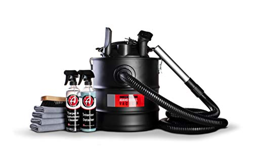 Adam's Barrel Vacuum - Interior Car Vacuum Cleaner for Detailers - High Power 5 Gallon Capacity 10A 1200W - 20 Ft Cord with 10 Ft Hose Featuring Interchangeable Rubberized Tools/Tips (Complete Kit)