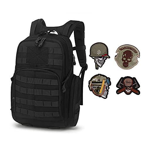 Mardingtop 25L Taktischer Militärischer Rucksack für Wandern Reisen Trekking Tasche Tactical Bag Assault Backpack Military Camping Pack Outdoor Daypacks & Patch Set