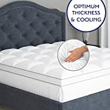 Full-Size Mattress Topper Pillow Top - Pure Cotton Top Quilted Plush Mattress Pad, Optimum Thickness with Premium Down Alternative Fill, Deep Pocket for Mattress 18 Inches