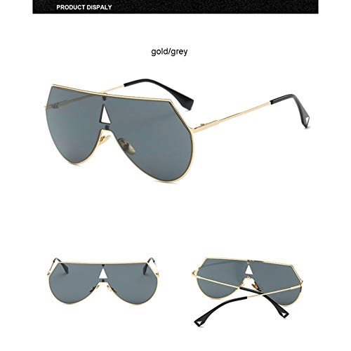 HYUHYU Coole Mode SteampunkSonnenbrille Männer Promi Sonnenbrille Gold Silber Hallow Hip Hop Goggles Auge Schutz oculos