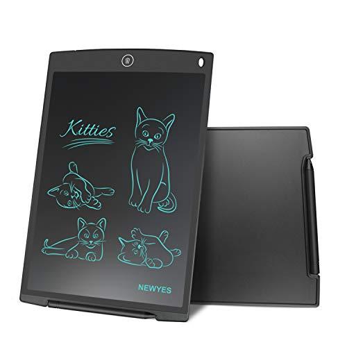 NEWYES NYWT120 Tavoletta LCD da Disegno con Stilo, 12 Pollici di Lenghezza, Vari Colori(Nero)