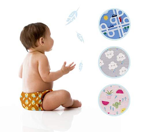 PiccolOrganics, Stoffwindeln Wiederverwendbare Windeln BIO - Handgemacht | 100{77afe97d0083120591d4f839578ff6b19cdb6e375882a4d66d941cc02f3d4864} Bio Kern + 1 GRATIS Windelneinlagen | EU Marke | Biohanf + Biobaumwolle | aio Stoffwindeln überhose ÖKO Windeln Baby