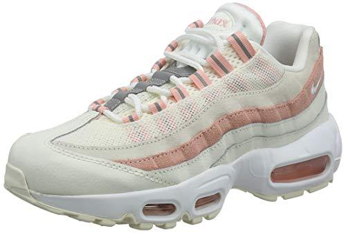 Nike Wmns Air Max 95, Scarpe da Ginnastica Donna, Multicolore (Sail/White/Bleached Coral 116), 39 EU