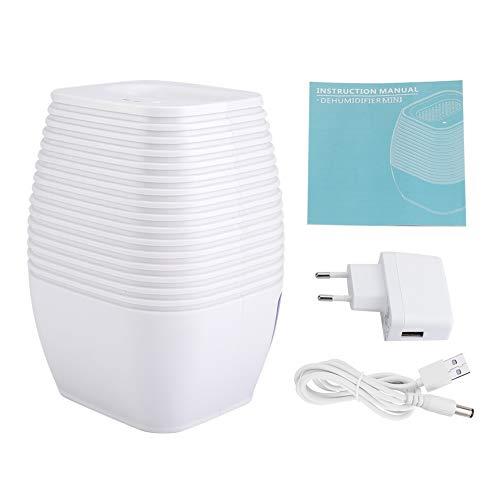 Dewin Kleiderschrankentfeuchter - Kleiner tragbarer geräuscharmer Luftentfeuchter Automatische Abschaltung für Kleiderschrank, Stromversorgung über Stecker oder USB-Kabel, 300ml (Stil : EU Plug)