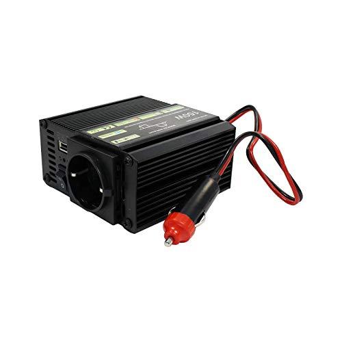 Eaxus®️ Inversor de Coche - Toma de 12 a 230 voltios + USB, 150 vatios