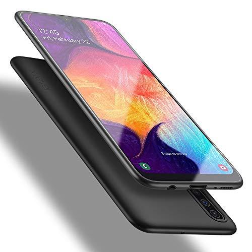 X-level Funda Samsung Galaxy A50/A30s/A50s, Carcasa para Samsung Galaxy A50 Suave TPU Gel Silicona Ultra Fina Anti-Arañazos y Protección a Bordes Funda Case para Samsung Galaxy A50 - Negro