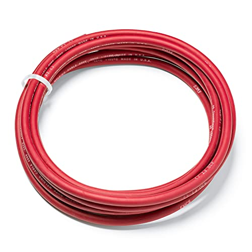 EWCS 6 Gauge Premium Extra Flexible Welding Cable 600 Volt - Red - 15 Feet - Made in The USA
