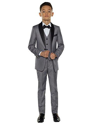 Paisley of London - traje de esmoquin para niños, traje de fiesta para niños, 12-18 meses a 14 años. Gris gris 12-18 meses