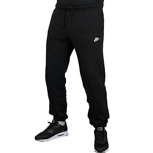 Nike Cuffed Fleece Club Sweatpants Jogginghose (L, Black/White)