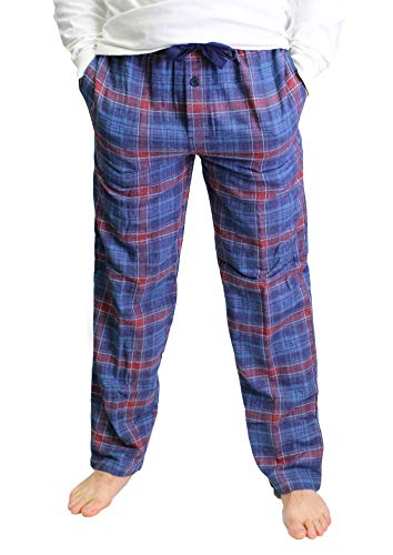 Fruit of the Loom Men's Yarn-dye Woven Flannel Pajama Pant, X-Large, Blue Red