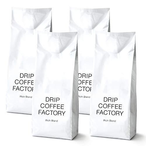 リッチ ブレンド コーヒー 粉 中挽き 2kg ( 500g × 4袋 ) 珈琲   ドリップコーヒーファクトリー