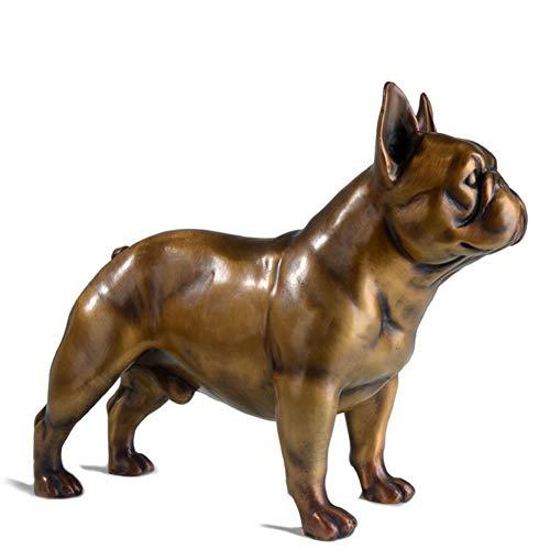 Figura de bulldog francés de bronce
