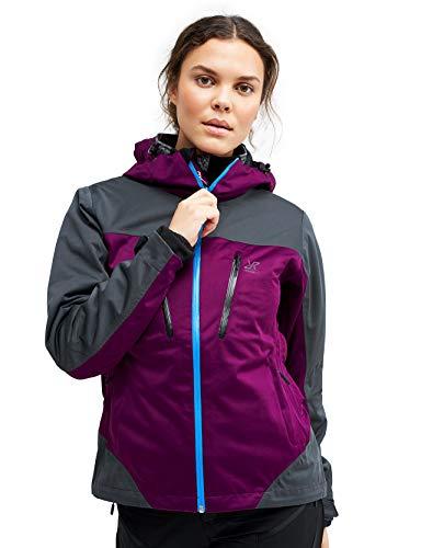 RevolutionRace Silence Proshell Jacket, Damenjacke, belüftete und wasserdichte Jacke für Wanderungen und andere Outdoor-Aktivitäten, Purple Rain, L
