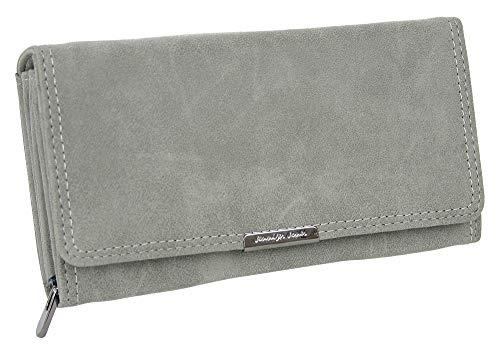 Große Geldbörse für Damen | Portemonnaie mit Münzfach Kreditkartenfächer Ausweisfächer Fotofächer | Brieftasche für Frauen - verschiedene Farben XL 11024