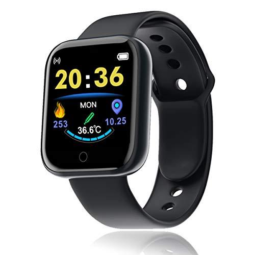Smartwatch, Reloj Inteligente Impermeable IP67 para Hombre Mujer, Pulsera de Actividad Inteligente con Monitor de Sueño Contador de Caloría Pulsómetros Podómetro para Android iOS