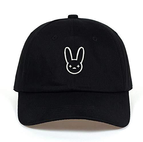 Bad Bunny 100% Algodón Sombrero Rapero Reggaeton Artista Papá Sombrero Snapbacks Gorras de béisbol Unisex Sombrero de Concierto Hip Hop Sombrero Bordado