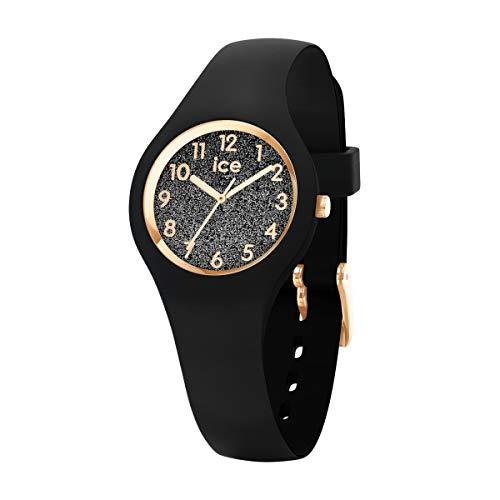 ICE-WATCH ICE Glitter Black Numbers - Reloj Negro para Mujer con Correa de Silicona, 015347...