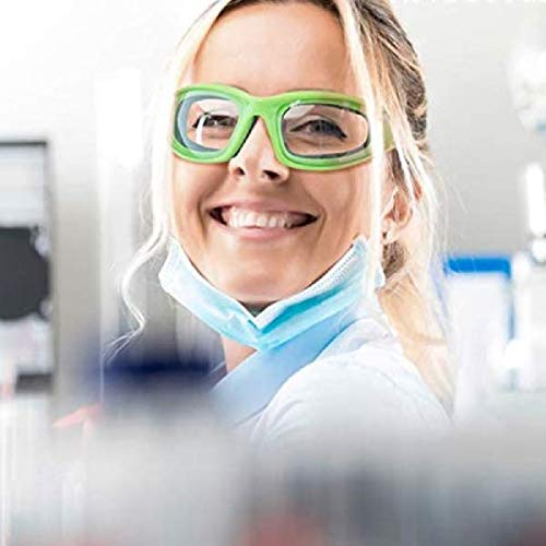InnovaGoods IG812621 Gafas Protectoras Multifunción, Verde, Seguridad Ambiental, Bloqueo de Salpicaduras y Partículas Peligrosas, Acrílica