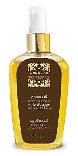 Arganöl Bio Kaltgepresst - Arganöl Haaröl Ohne Silikon und Parabene - Haarkur Trockene Haare - Argan öl Für sehr Trockene Haut, Gesicht, Haare & Nägel 125ml - Biologisch