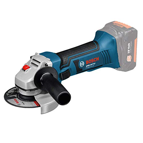 Bosch Professional 060193A300 GWS 18 V - LI Cordless Angle Grinder (without Battery and Charger), Navy Blue, 10.0 cm*38.0 cm*16.5 cm