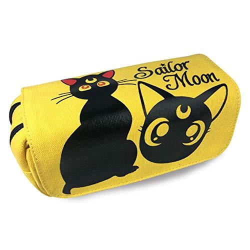 Twhoixi Cartoon Totoro Pencil Cases zeeman maan briefpapier tassen Kids jongen meisje Canvas Organizer portemonnee make-up tas cadeau