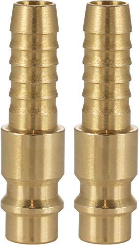 Poppstar Conector compresor aire macho, diámetro nominal 7,2 mm con conector (macho) para manguera con Ø interior 8mm, 2 piezas